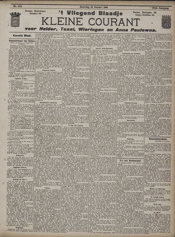 Vliegend blaadje : nieuws- en advertentiebode voor Den Helder 1909-01-23