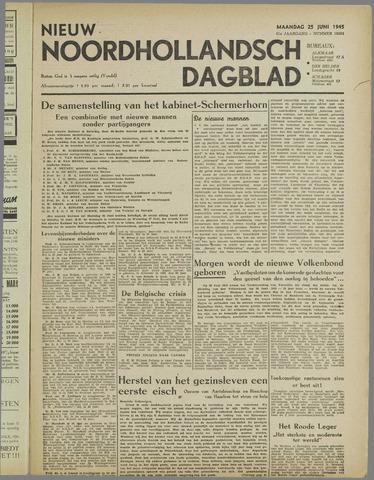 Nieuw Noordhollandsch Dagblad : voor Alkmaar en omgeving 1945-06-25