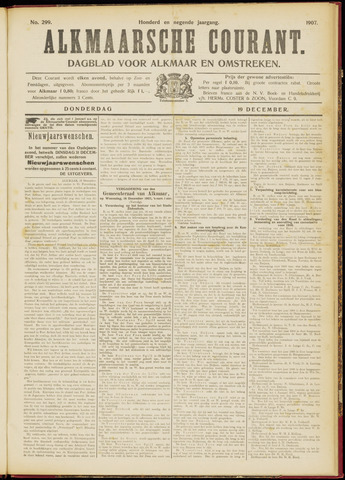 Alkmaarsche Courant 1907-12-19