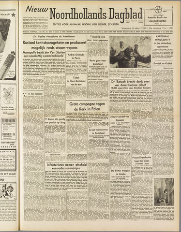 Nieuw Noordhollandsch Dagblad : voor Alkmaar en omgeving 1949-03-23