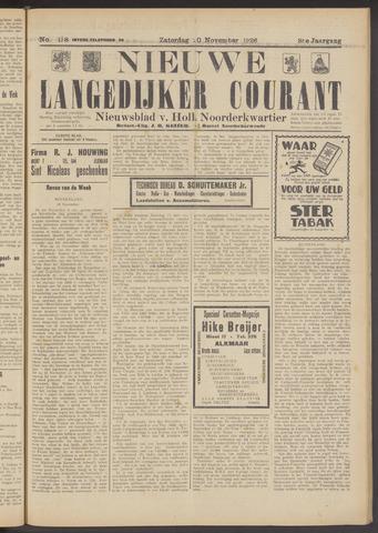 Nieuwe Langedijker Courant 1926-11-20