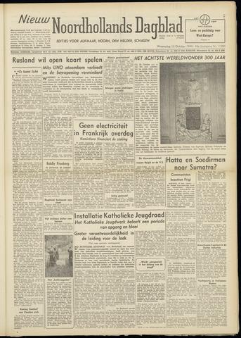 Nieuw Noordhollandsch Dagblad : voor Alkmaar en omgeving 1948-10-13