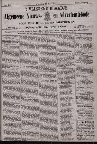 Vliegend blaadje : nieuws- en advertentiebode voor Den Helder 1875-07-28