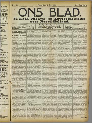 Ons Blad : katholiek nieuwsblad voor N-H 1911-07-01