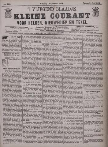 Vliegend blaadje : nieuws- en advertentiebode voor Den Helder 1881-10-14
