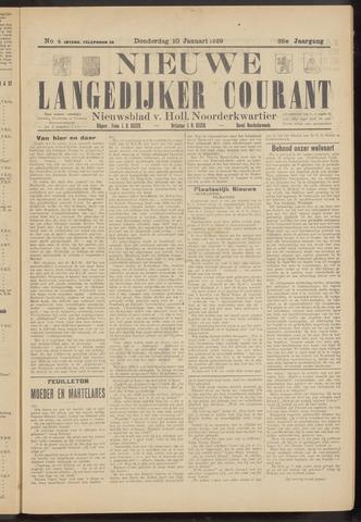 Nieuwe Langedijker Courant 1929-01-10