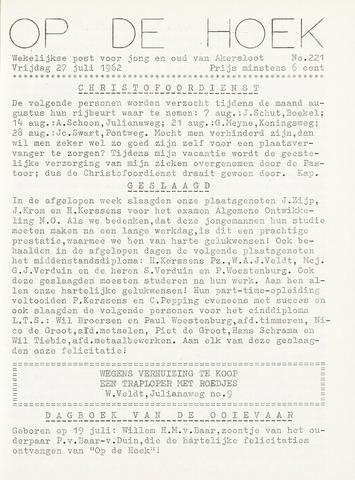 Op De Hoek, weekblad voor Akersloot 1962-07-27