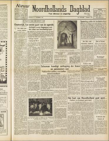 Nieuw Noordhollandsch Dagblad : voor Alkmaar en omgeving 1947-11-27