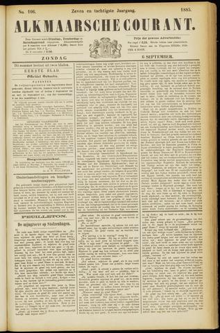 Alkmaarsche Courant 1885-09-06