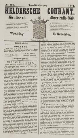 Heldersche Courant 1872-11-13