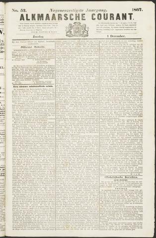 Alkmaarsche Courant 1867-12-01