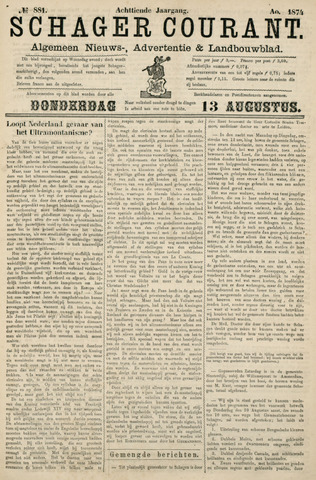 Schager Courant 1874-08-13