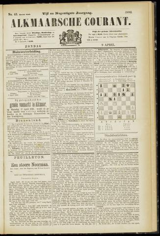 Alkmaarsche Courant 1893-04-09