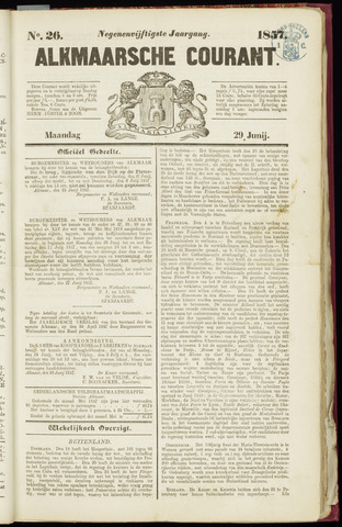 Alkmaarsche Courant 1857-06-29