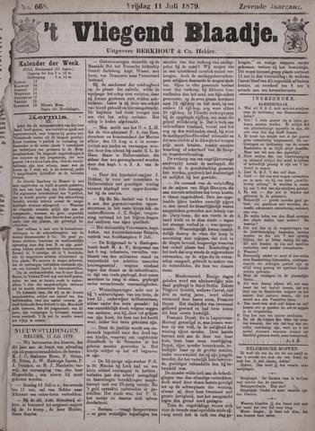 Vliegend blaadje : nieuws- en advertentiebode voor Den Helder 1879-07-11