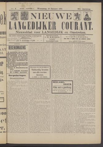 Nieuwe Langedijker Courant 1921-01-12
