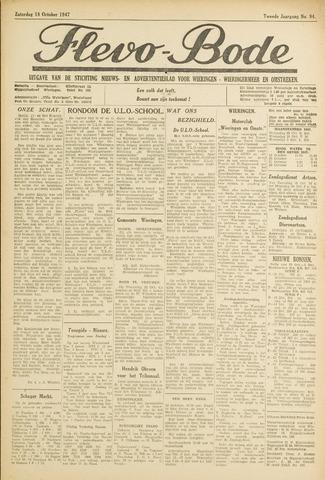Flevo-bode: nieuwsblad voor Wieringen-Wieringermeer 1947-10-18
