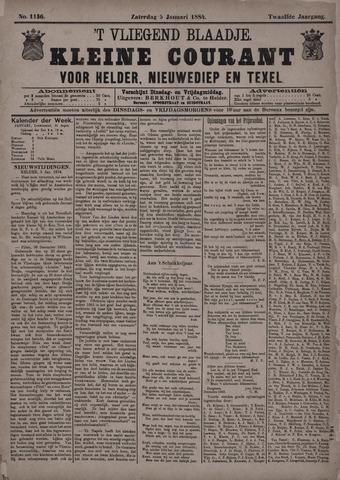Vliegend blaadje : nieuws- en advertentiebode voor Den Helder 1884-01-05