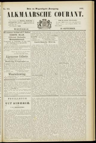 Alkmaarsche Courant 1891-09-23