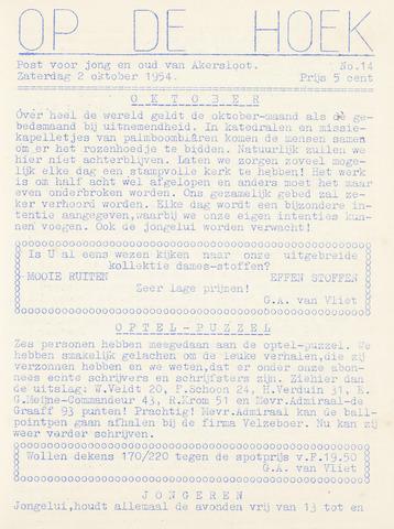 Op De Hoek, weekblad voor Akersloot 1954-10-02