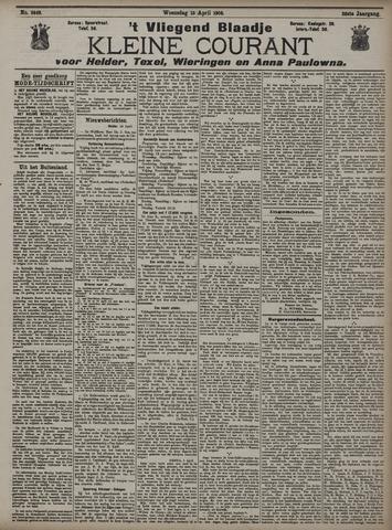 Vliegend blaadje : nieuws- en advertentiebode voor Den Helder 1908-04-15