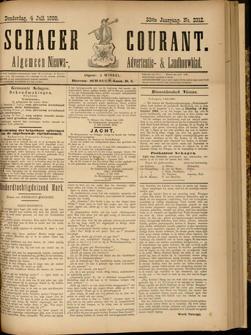 Schager Courant 1889-07-04