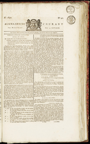 Alkmaarsche Courant 1832-10-15