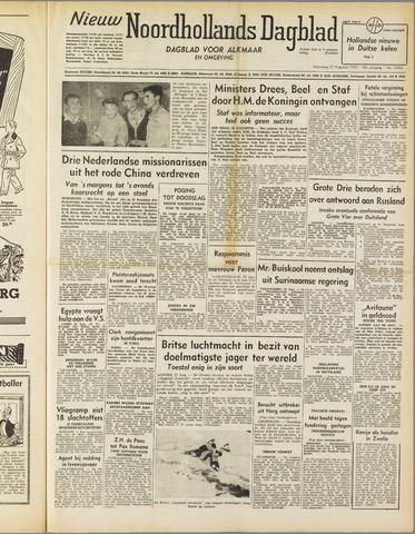 Nieuw Noordhollandsch Dagblad : voor Alkmaar en omgeving 1952-08-27