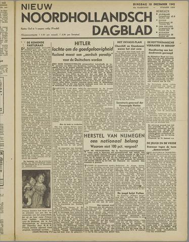 Nieuw Noordhollandsch Dagblad : voor Alkmaar en omgeving 1945-12-18
