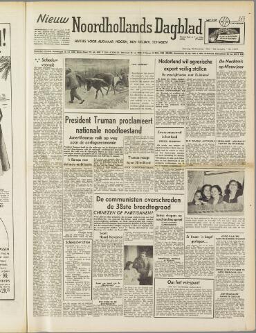 Nieuw Noordhollandsch Dagblad : voor Alkmaar en omgeving 1950-12-16