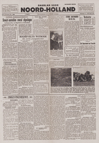 Dagblad Noord-Holland, Schager editie 1943-01-15