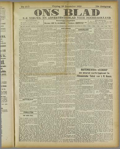 Ons Blad : katholiek nieuwsblad voor N-H 1919-12-19
