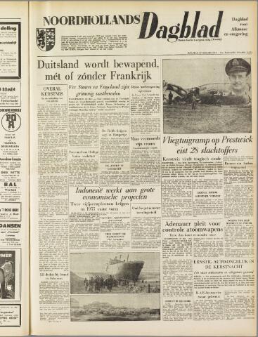 Noordhollands Dagblad : dagblad voor Alkmaar en omgeving 1954-12-27