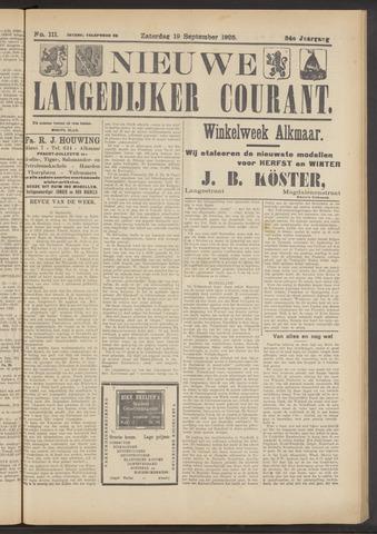 Nieuwe Langedijker Courant 1925-09-19