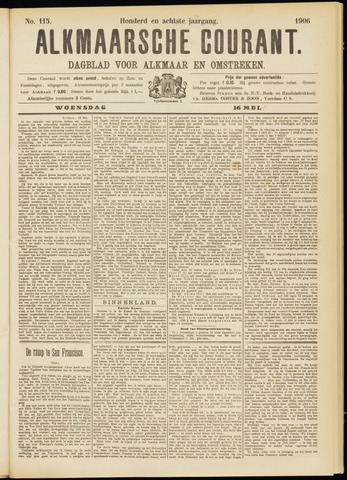 Alkmaarsche Courant 1906-05-16