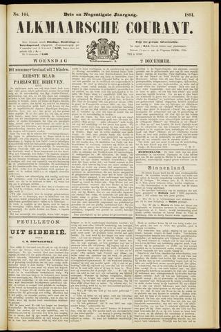 Alkmaarsche Courant 1891-12-02