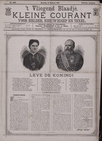 Vliegend blaadje : nieuws- en advertentiebode voor Den Helder 1887-02-19