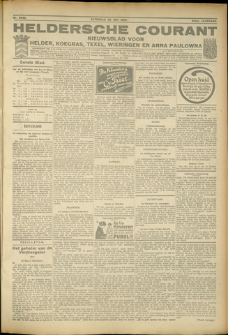 Heldersche Courant 1925-05-30