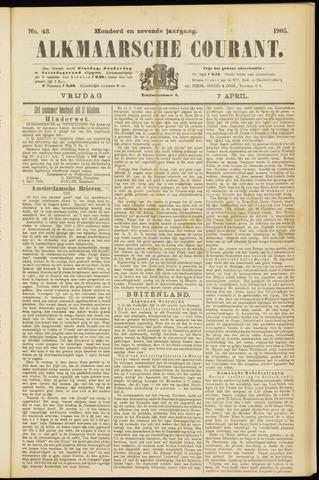 Alkmaarsche Courant 1905-04-07
