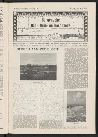 Bergensche bad-, duin- en boschbode 1937-07-17