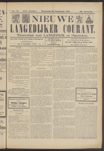Nieuwe Langedijker Courant 1920-09-29