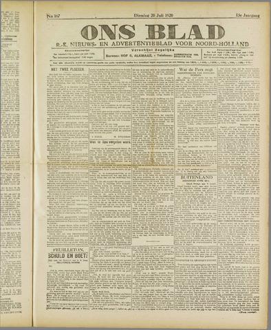 Ons Blad : katholiek nieuwsblad voor N-H 1920-07-20