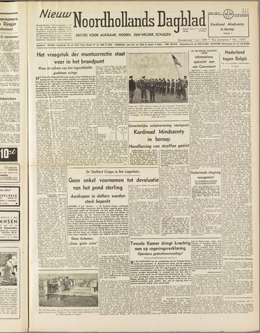 Nieuw Noordhollandsch Dagblad : voor Alkmaar en omgeving 1949-07-07