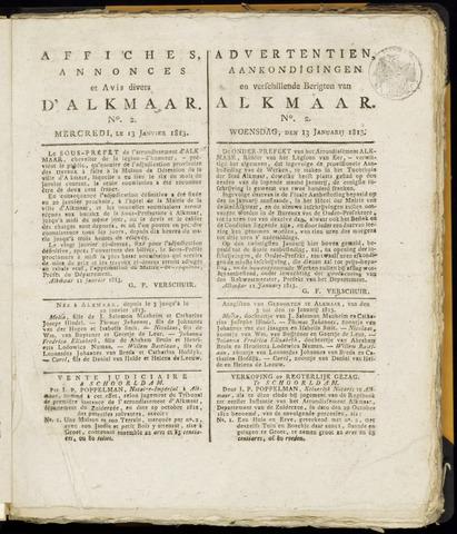 Alkmaarsche Courant 1813-01-13