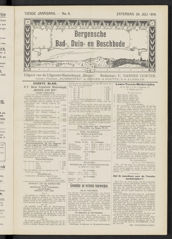Bergensche bad-, duin- en boschbode 1919-07-26