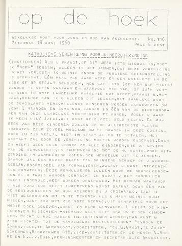 Op De Hoek, weekblad voor Akersloot 1960-06-18