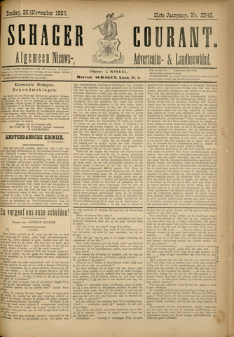 Schager Courant 1888-11-25