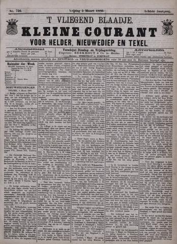 Vliegend blaadje : nieuws- en advertentiebode voor Den Helder 1880-03-05