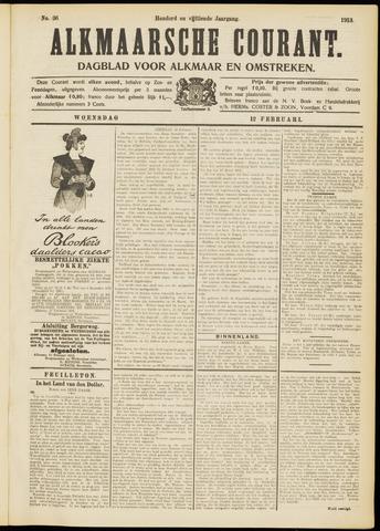 Alkmaarsche Courant 1913-02-12