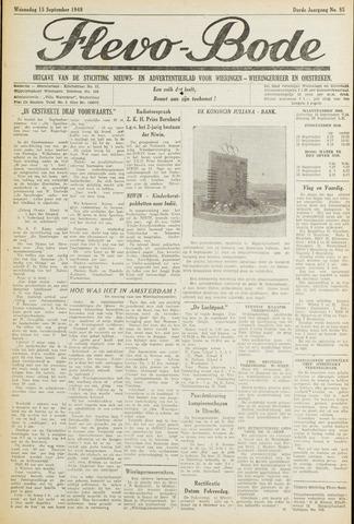 Flevo-bode: nieuwsblad voor Wieringen-Wieringermeer 1948-09-15